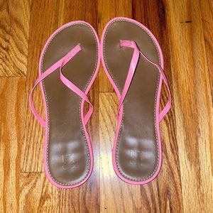 NY&Co Coral Flip Flops Size 8